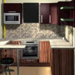 навесные полочки в маленькой кухне
