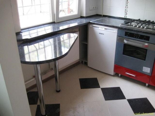 Столешница вместо подоконника кухне хрущевки красивая столешница из камня Савеловская