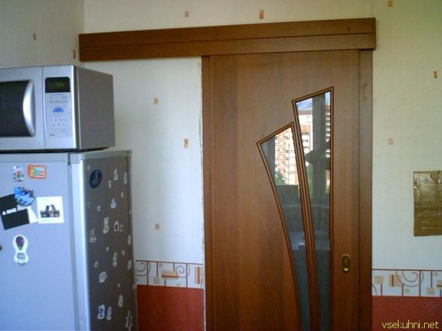 Сдвижные двери на кухню своими руками