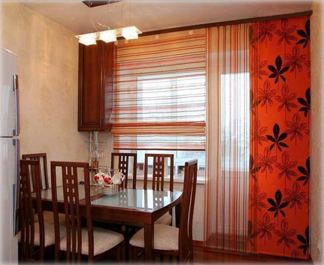Японские шторы фото для кухни