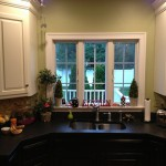 кухни черно белые угловые