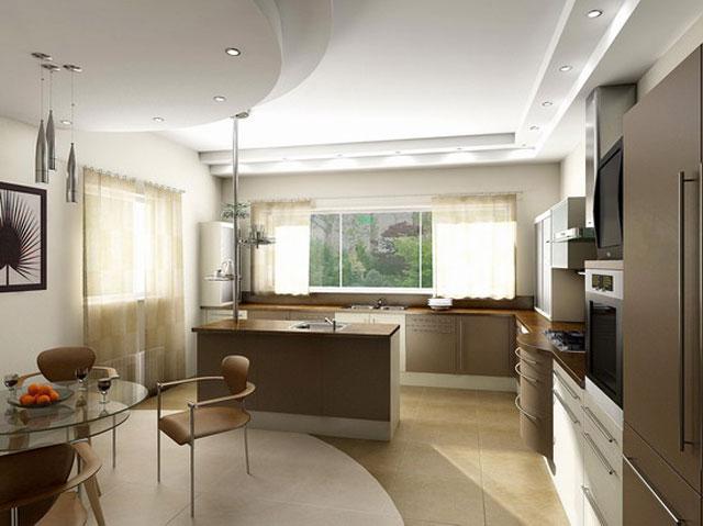 оформление кухни столовой
