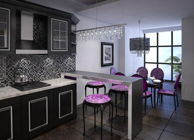 дизайн интерьера небольшой кухни столовой