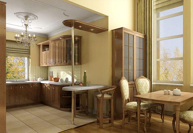 кухня столовая дизайн фото