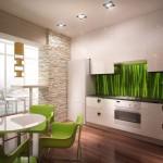 фартук для кухни из стекла с фотопечатью с изображением бамбука придаст натуральности вашей кухне