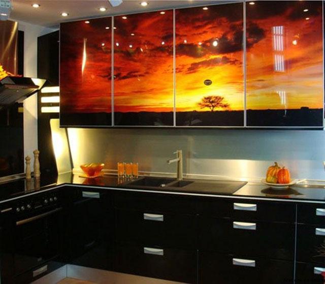 фасады кухни с фотопечатью