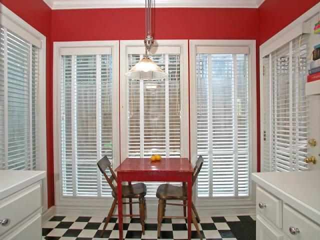 шторы для красной кухни фото