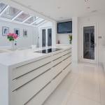 кухня белая глянцевая
