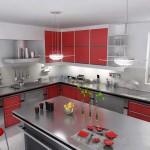 красно черные кухни фото