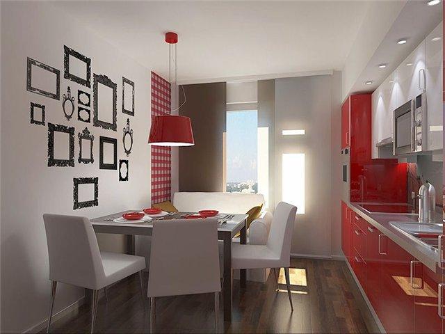 черно красная кухня фото