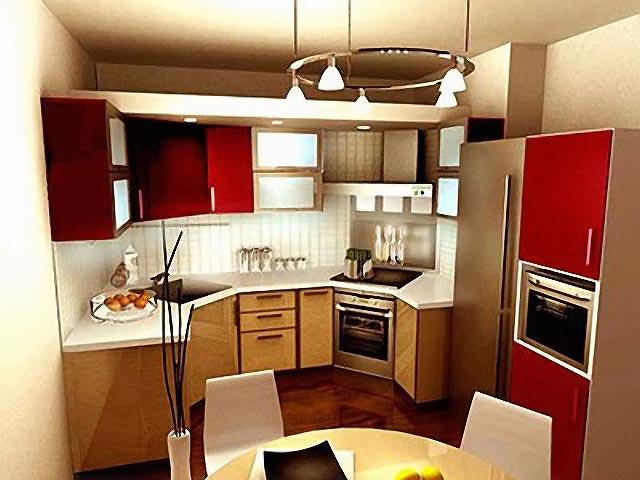дизайн черно красной кухни