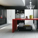 кухня в черно красном цвете