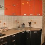 кухни оранжевые с венге фото