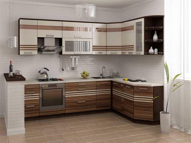 Кухни цвета венге с бежевым фото