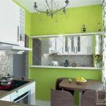 зеркало на маленькой кухне зрительно расширяет пространство