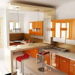 кухни оранжевые фото