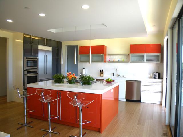 кухня оранжевый глянец