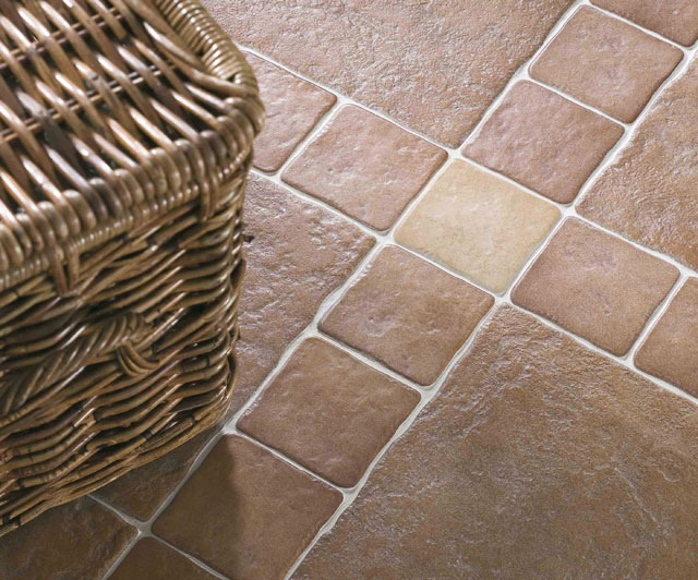 Плитка для кухни на пол под камень