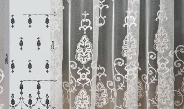 тюли и шторы для кухни с вышивкой