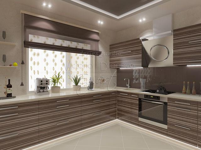 Цвет зебрано фото кухни