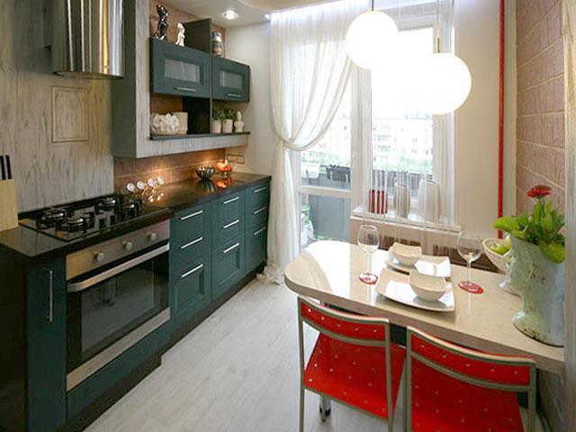 дизайн 11 метровой кухни