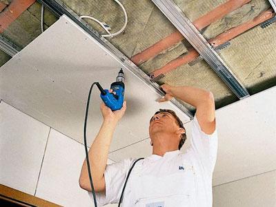 Потолок на кухне из гипсокартона своими руками