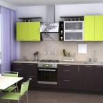 кухни цвета лайм фото