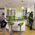 дизайн кухни оливкового цвета