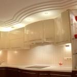 Потолок из гипсокартона на кухне фото