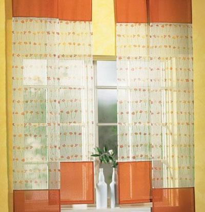Японские шторы для кухни - фото