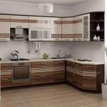 зебрано в интерьере кухни