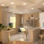 подвесной потолок из гипсокартона на кухне фото
