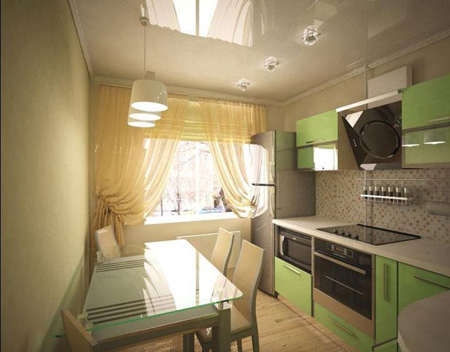 кухня 7 м.кв дизайн фото