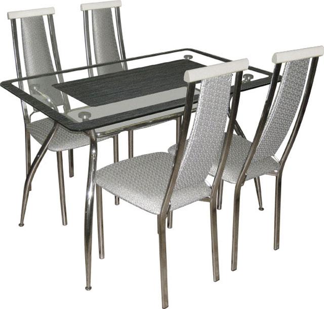 Стеклянный обеденный стол для кухни