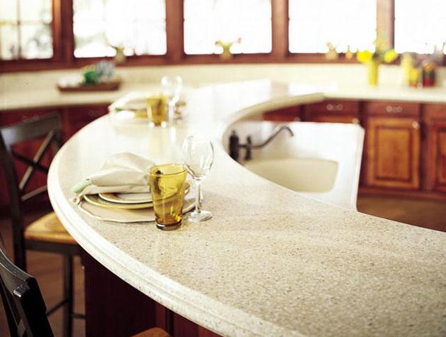 барная стойка для кухни из искусственного камня