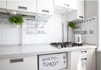 дизайн кухни 7 кв м белого цвета