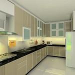 бежевая кухня фото
