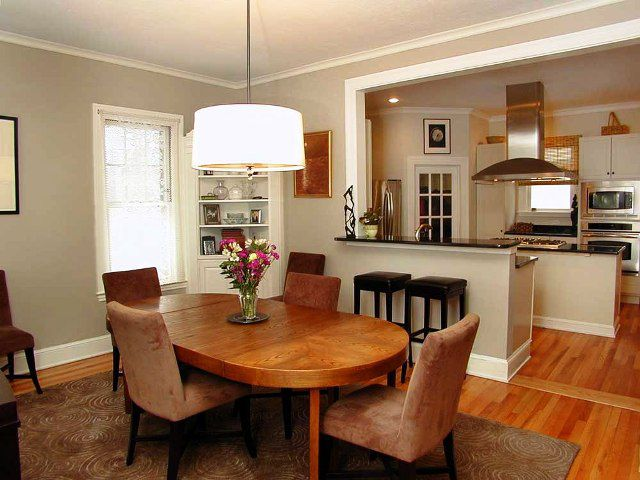 Combined kitchen and dining room