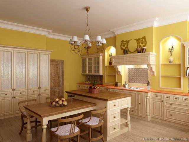 сочетание цветов в интерьере кухни бежевый