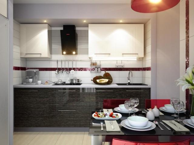 кухни черные глянцевые