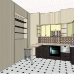 черно белые кухни угловые