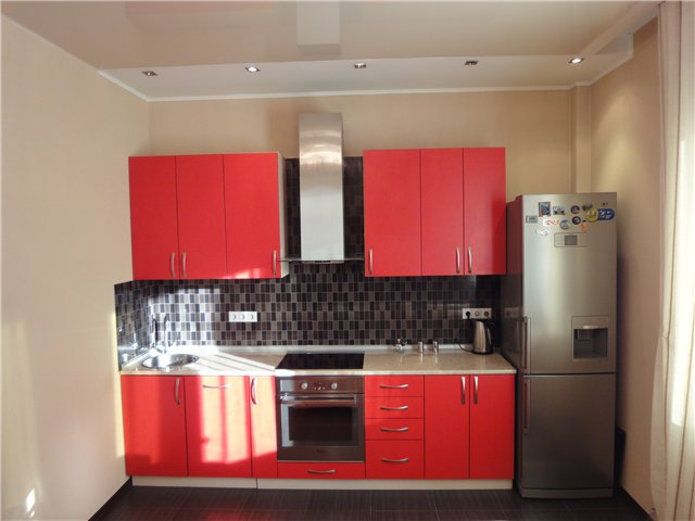 Кухня черно красная фото дизайн