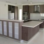 коричневая кухня