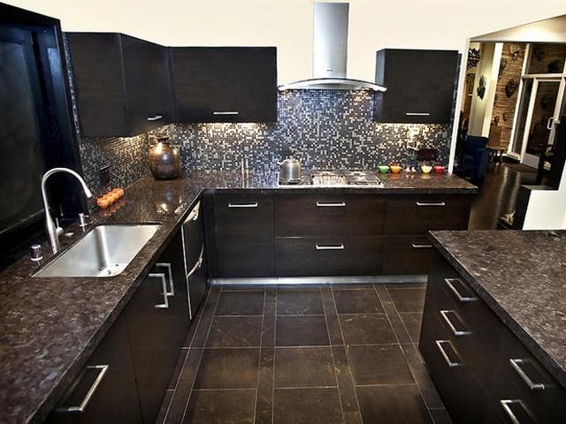 коричневые кухни фото