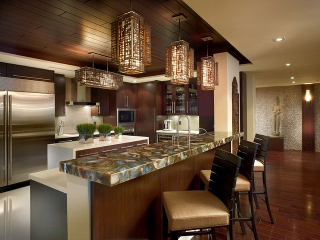 темно коричневая кухня