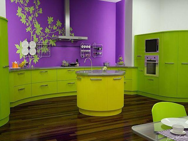 кухни салатового цвета