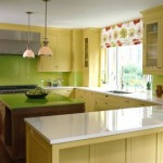 кухня желто салатовая