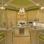 кухня бело салатовая