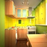 кухня желто зеленая