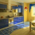 сине желтая кухня